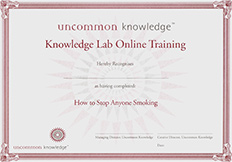 Smoking Course Certificate